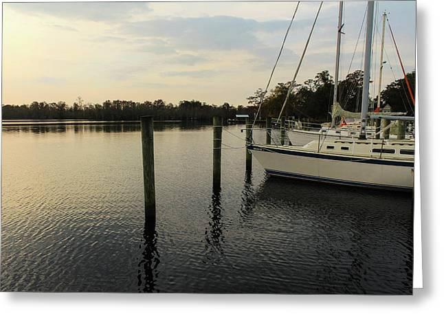 Ready To Sail Greeting Card by Carolyn Ricks