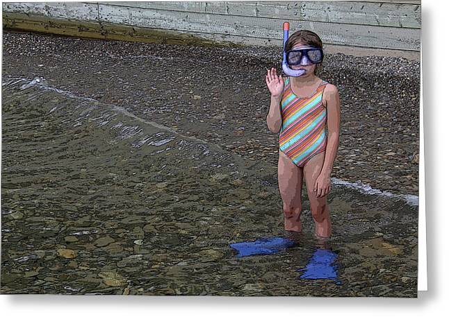 Ready To Snorkel Greeting Card by Frank Howie