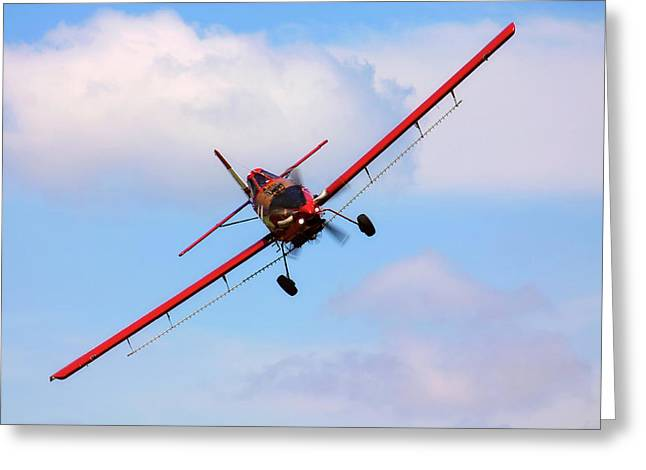 Ready To Spray - Crop Duster - Ag Pilot - Arkansas Razorbacks Greeting Card by Jason Politte