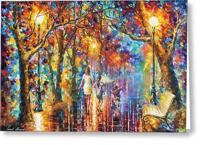 Real Dreams   Greeting Card by Leonid Afremov