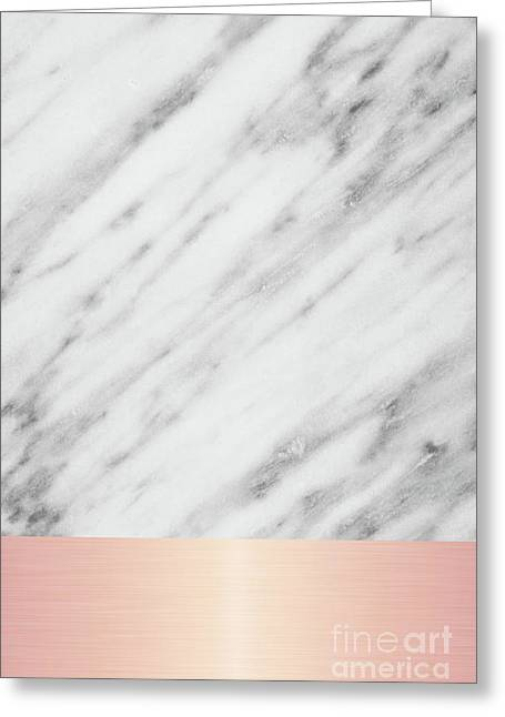 Real Italian Marble And Pink Greeting Card