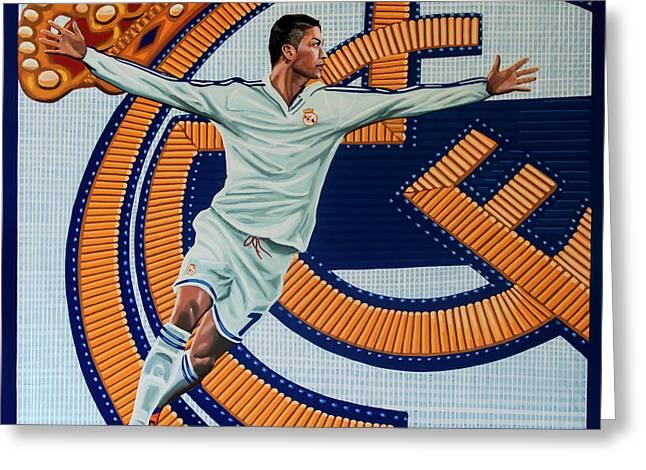 Real Madrid Painting Greeting Card by Paul Meijering