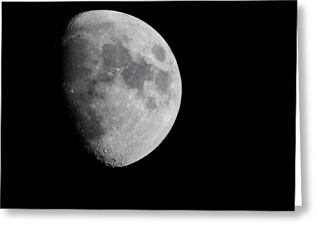 Real Moon Greeting Card by Tom Dowd