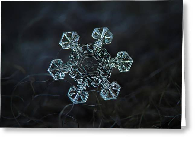 Real Snowflake - Ice Crown New Greeting Card