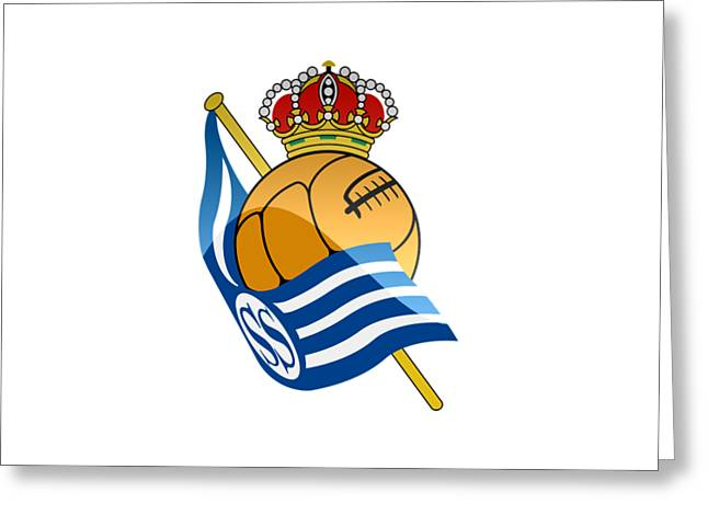 Real Sociedad De Futbol Sad Greeting Card by David Linhart