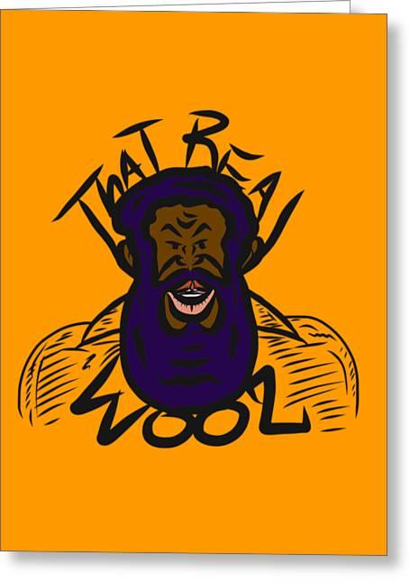 Real Wool Gold Greeting Card