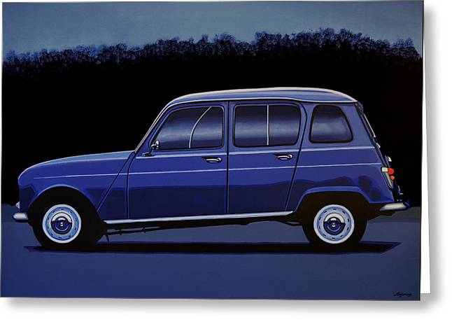 Renault 4 1961 Painting Greeting Card by Paul Meijering