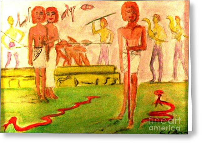 Reanimation Of Ancient Egypt Greeting Card by Stanley Morganstein