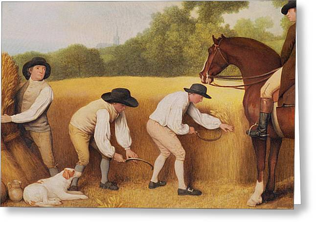 Reapers Greeting Card by George Stubbs