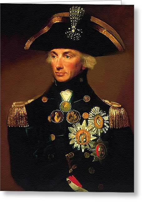 Rear- Admiral Lord Horatio Nelson - 1758-1805 After L F Abbott. P B Greeting Card