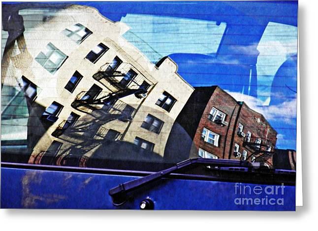 Rear Window Greeting Card by Sarah Loft