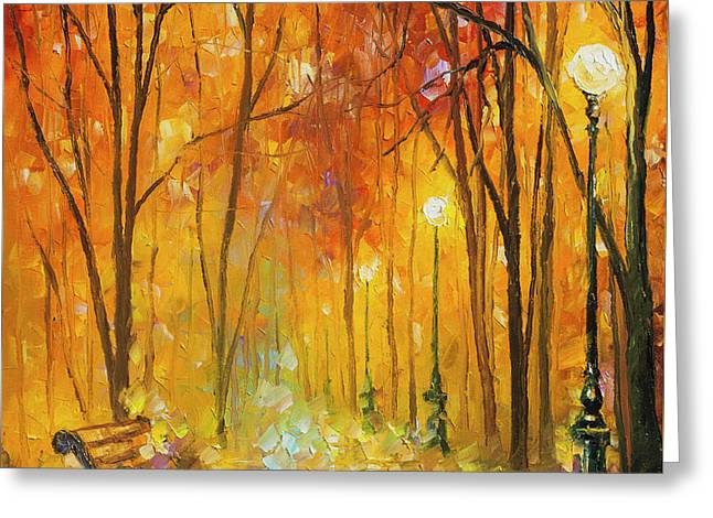 Reasons Of Autumn  Greeting Card by Leonid Afremov