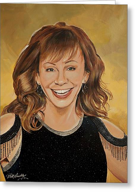 Reba Mcentire Greeting Card by Bill Dunkley