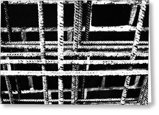 Rebar And Brick - Industrial Abstract Greeting Card