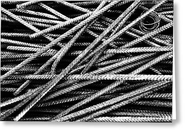 Rebar And Spring - Industrial Abstract  Greeting Card