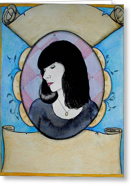 Greeting Card featuring the painting Rebecca Marie by Josean Rivera