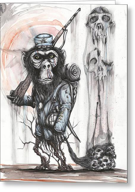Rebel Evolution Greeting Card by Tai Taeoalii