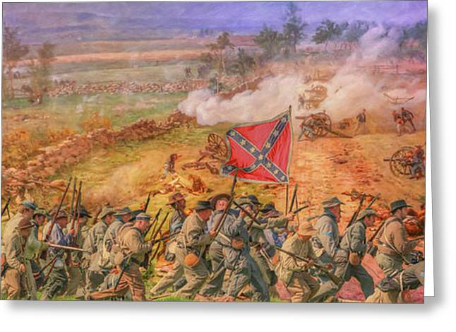 Rebel Yell Gettysburg Greeting Card by Randy Steele