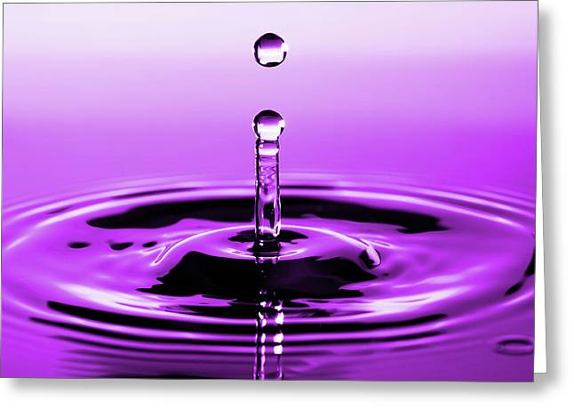 Rebounding Droplet Greeting Card