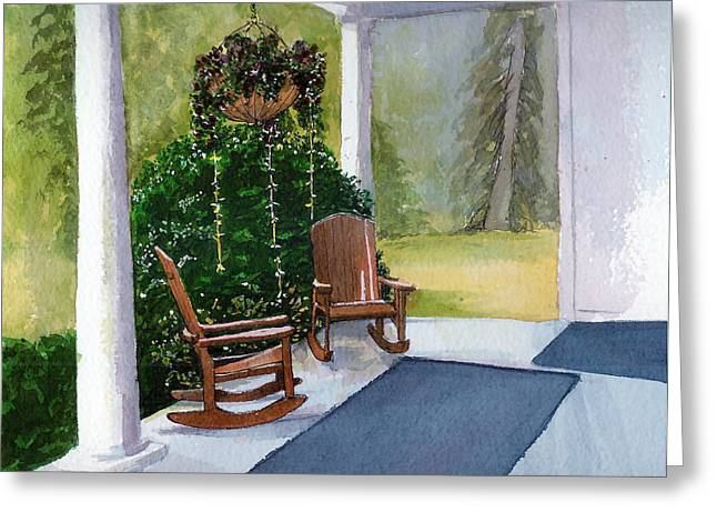 Greeting Card featuring the painting Recap by Lynn Babineau