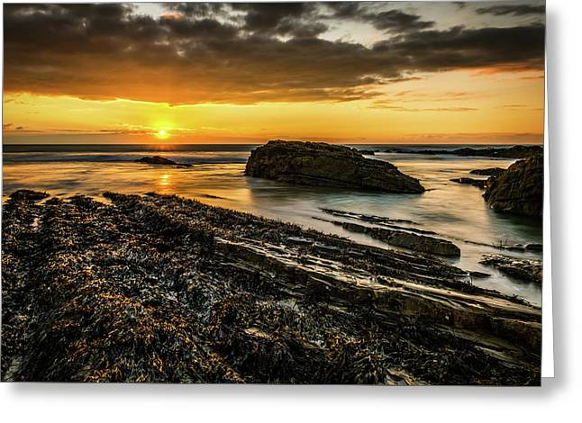 Greeting Card featuring the photograph Receding Tide by Nick Bywater