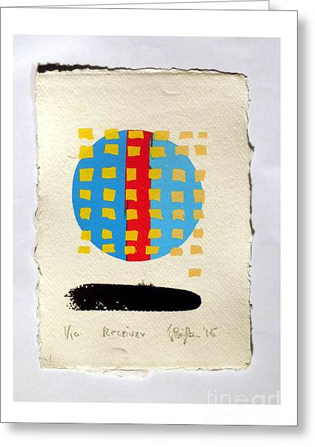 Receiver. Greeting Card by Timothy Beighton