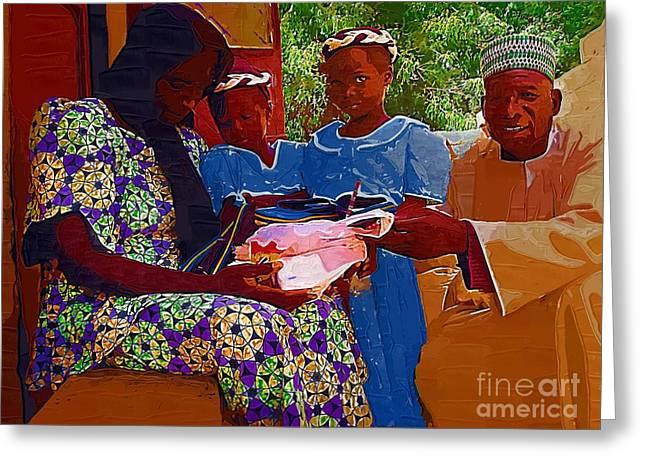 Receiving Gifts Greeting Card by Deborah Selib-Haig DMacq