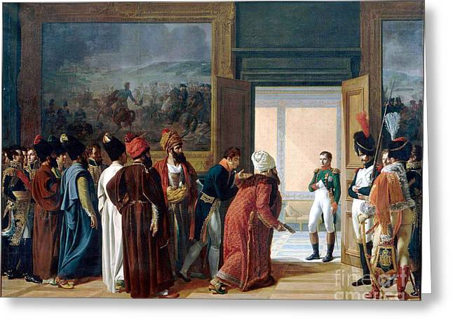 Napoleon Receiving The Ambassador Of Persia Greeting Card