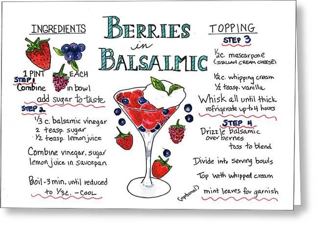 Recipe- Berries In Balsamic Greeting Card