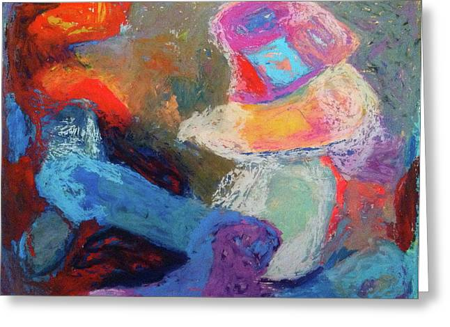 Abstractions Pastels Greeting Cards - Reciprocal Greeting Card by Windy Noviardy