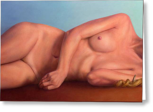 Reclining Figure - Anterior Greeting Card