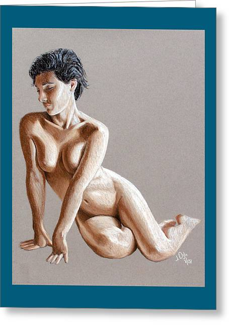 Reclining Figure Greeting Card by Joseph Ogle
