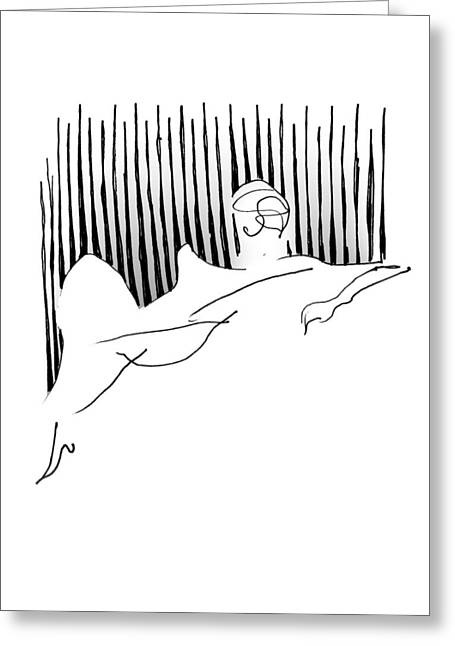Reclining Lady Greeting Card by Keith A Link