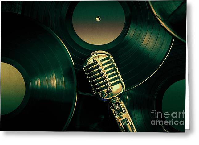 Recording Studio Art Greeting Card by Jorgo Photography - Wall Art Gallery