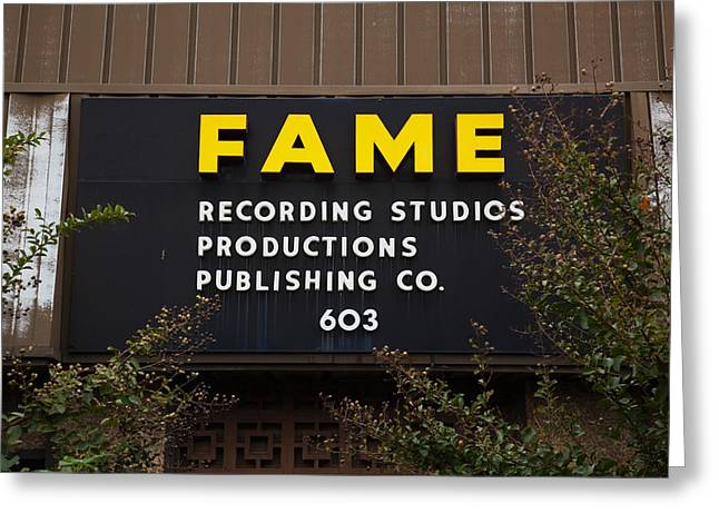 Recording Studio, Fame Recording Greeting Card