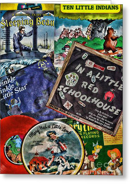 Records For Children Greeting Card by Paul Ward