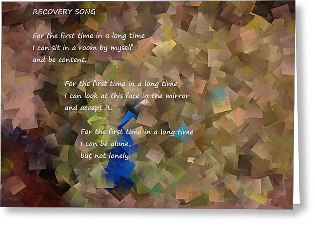 Recovery Song  Greeting Card