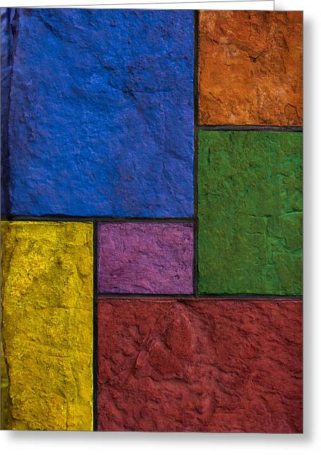 Rectangles Greeting Card by Don Gradner
