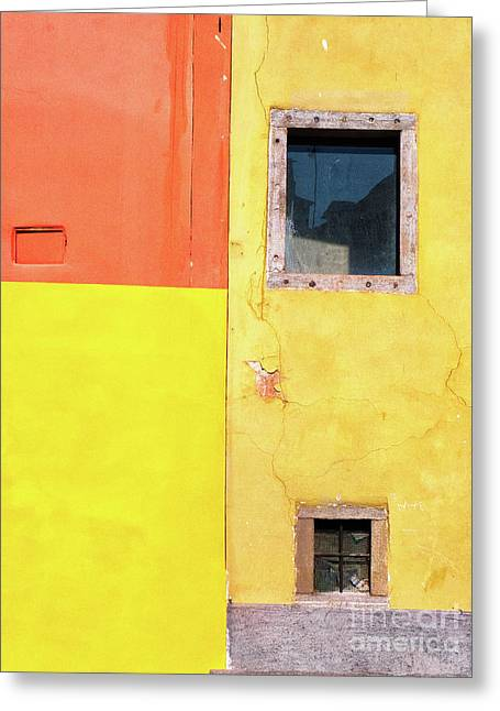 Greeting Card featuring the photograph Rectangles by Silvia Ganora