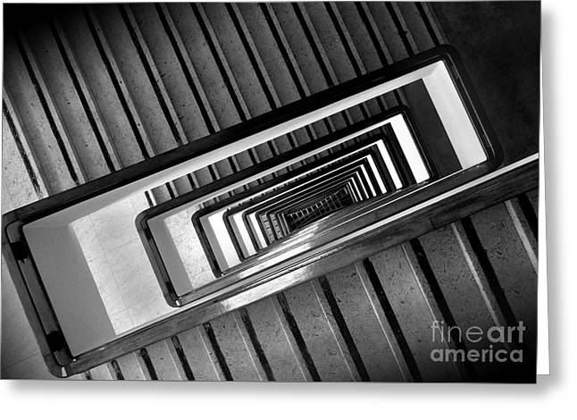 Rectangular Spiral Staircase Greeting Card