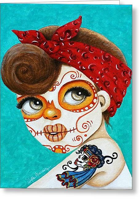 Recuerdo De La Gitana Greeting Card by Al  Molina