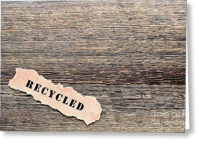 Recycled Wood Greeting Card by Olivier Le Queinec