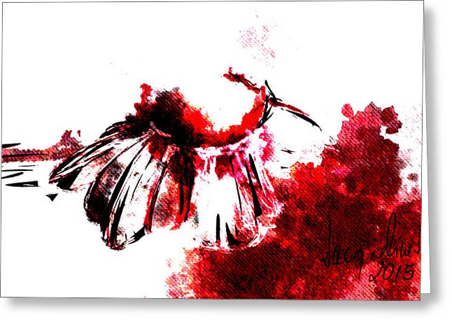 Red -1 Greeting Card