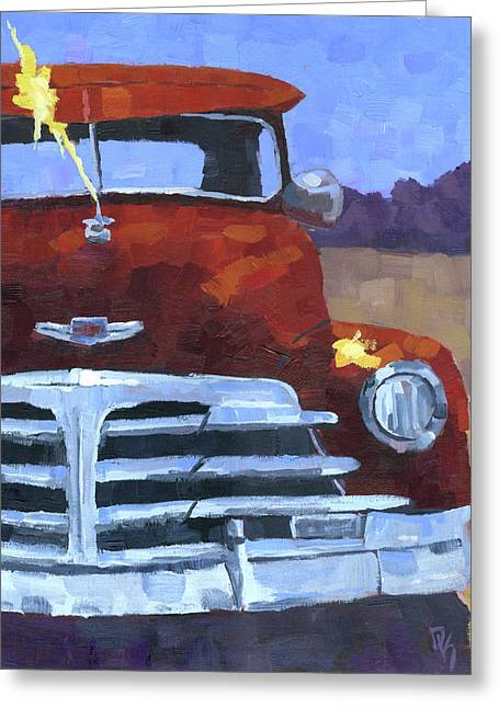 Red 1948 Chevy  Greeting Card