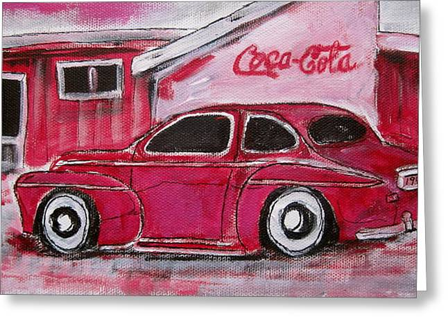Red 1948 Ford Coupe Greeting Card by Michael Litvack