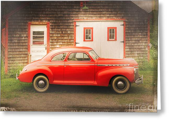 Red 41 Coupe Greeting Card by Craig J Satterlee
