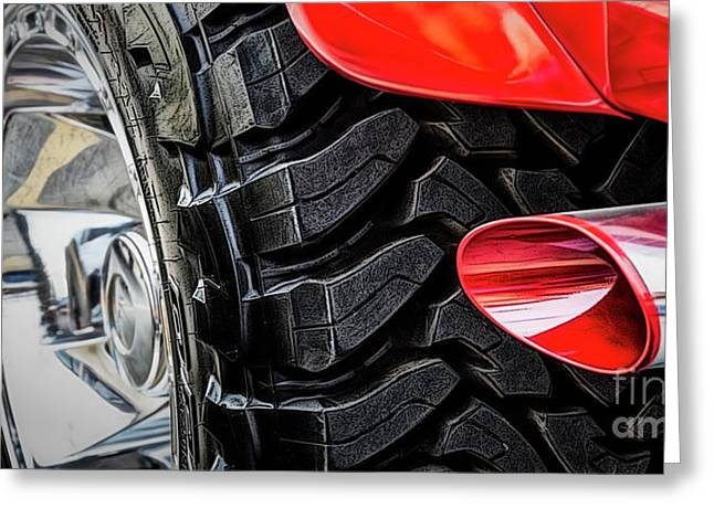 Greeting Card featuring the photograph Red 4x4 by Brad Allen Fine Art