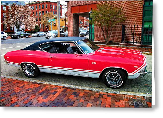 Red 68-69 Chevelle Ss 396 Greeting Card