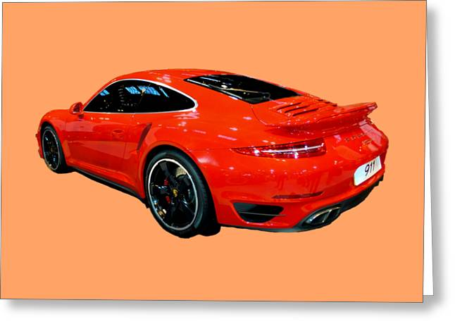 Red 911 Greeting Card