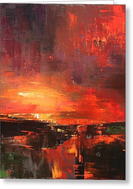 Red Greeting Card by Anastasija Kraineva